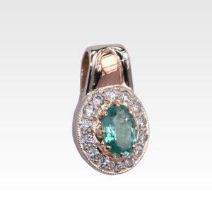 Подвеска из золота с изумрудом и бриллиантами Арт0211013