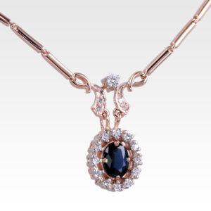 Колье из золота с сапфиром и бриллиантами Арт0313015