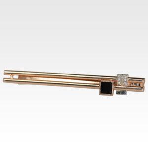 Зажим для галстука из золота с агатом Арт1705001