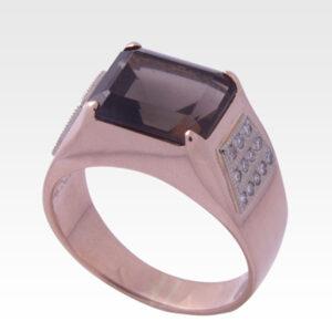 Кольцо из золота с дымчатым кварцем Арт2001002