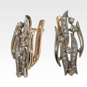Серьги из золота с бриллиантами АРТ0102375