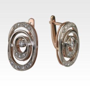 Серьги из золота с бриллиантами Арт0102378