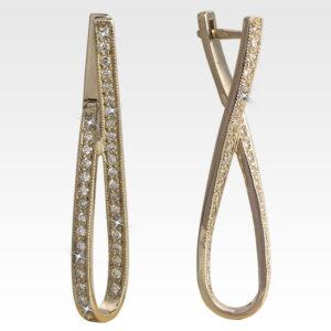Серьги из золота с бриллиантами Арт0102383