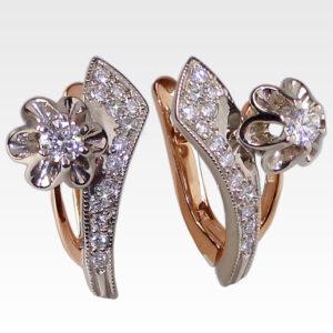 Серьги из золота с бриллиантами Арт0102384