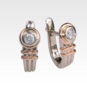 Серьги из золота с бриллиантами Арт0102387