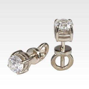 Серьги-гвоздики из золота с бриллиантами Арт0102389