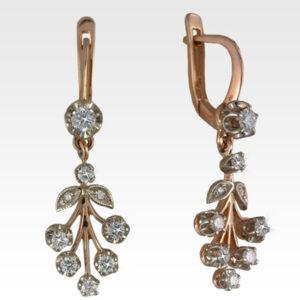 Серьги из золота с бриллиантами Арт0102397