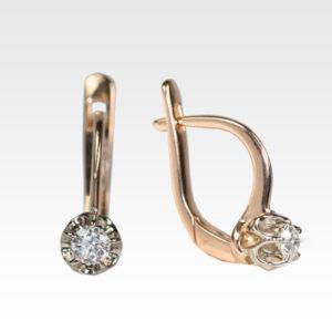 Серьги из золота с бриллиантами Арт0102399