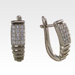 Серьги из золота с бриллиантами Арт0102404