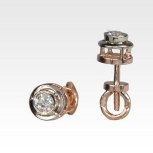 Серьги-гвоздики из золота с бриллиантами Арт0102520