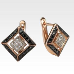 Серьги из золота с бриллиантами Арт0102600