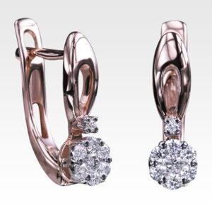 Серьги из золота с бриллиантами Арт0102773