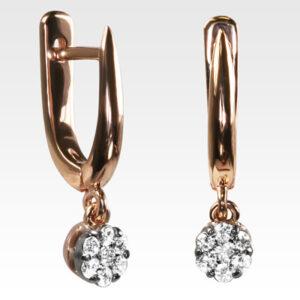 Серьги из золота с бриллиантами Арт0102812