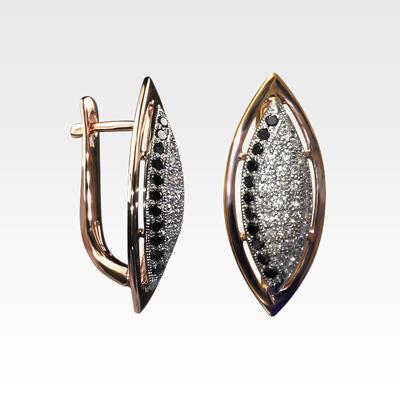 Серьги из золота с бриллиантами Арт0102830