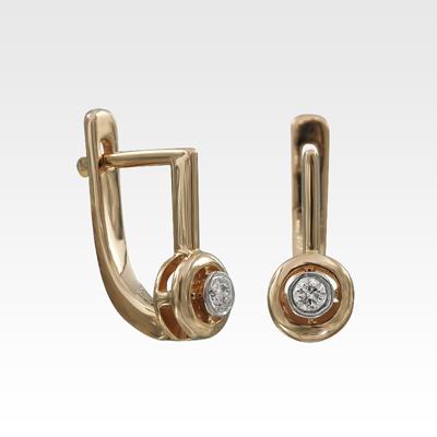 Серьги из золота с бриллиантами Арт0102861