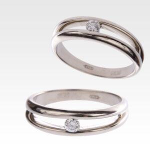 Кольцо из белого золота с бриллиантами Арт0101608