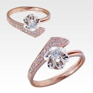 Кольцо из золота с центральным бриллиантом Арт0101681