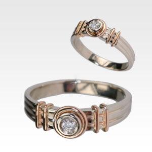 Кольцо из золота с центральным бриллиантом Арт0101684