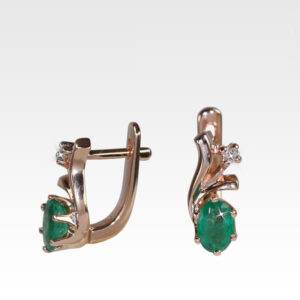 Серьги из золота с изумрудами и бриллиантами Арт0202137