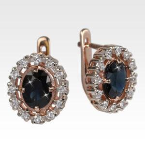 Серьги из золота с сапфиром и бриллиантами Арт0302060
