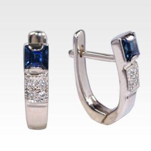 Серьги из золота с сапфиром и бриллиантами Арт0302065