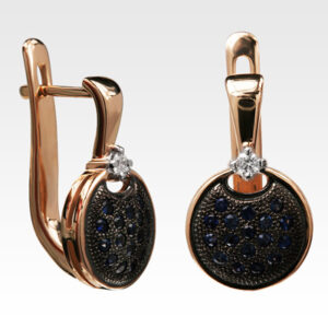 Серьги из золота с сапфирами и бриллиантами Арт0302089