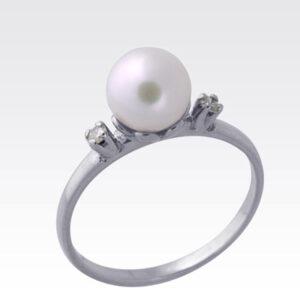 Кольцо из белого золота с жемчугом Арт0501032