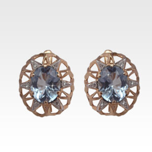 Серьги из золота с топазами и бриллиантами Арт0602022