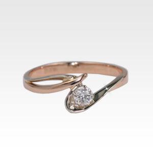 Кольцо из золота с бриллиантом Арт1101025