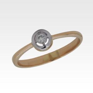 Кольцо из золота с бриллиантом Арт1101070