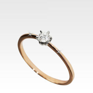 Кольцо из золота с бриллиантом Арт1101148