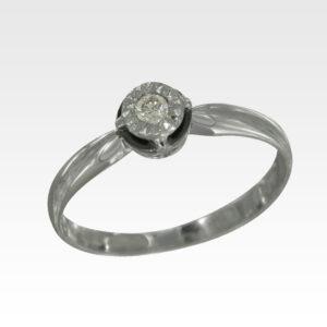 Кольцо из золота с центральным бриллиантом Арт1101358