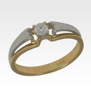 Кольцо из золота с центральным бриллиантом Арт1101373