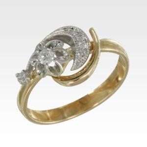 Кольцо из золота с бриллиантами Арт1101410