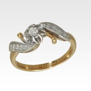 Кольцо из золота с бриллиантами Арт1101452