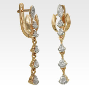 Серьги из золота с бриллиантами Арт1102012