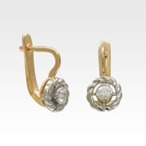 Серьги из золота с бриллиантами Арт1102014