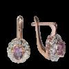 Серьги из золота с аметистами и бриллиантами Арт1602005
