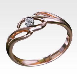 Кольцо из золота с бриллиантом Арт0101031