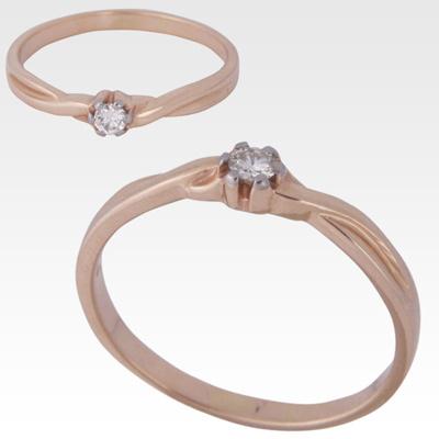Кольцо из золота с бриллиантом Арт0101121