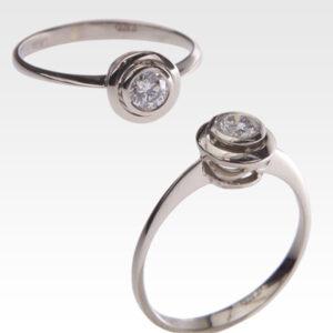 Кольцо из золота с центральным бриллиантом Арт0101620