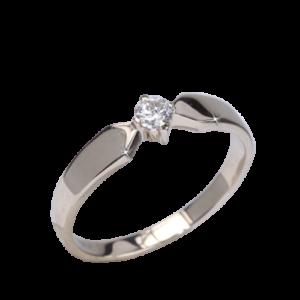 Кольцо из золота с центральным бриллиантом Арт0101906
