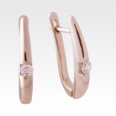 Серьги из золота с бриллиантами Арт0102382