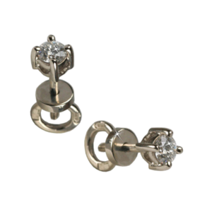 Серьги-пусеты из золота с бриллиантами Арт0102424