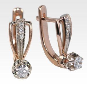 Серьги из золота с бриллиантами Арт0102506