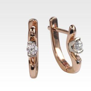 Серьги из золота с бриллиантами Арт0102512