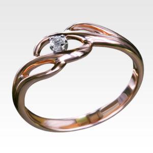 Кольцо из золота с бриллиантами Арт0101031