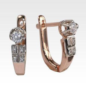 Серьги из золота с бриллиантами Арт0102620