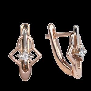 Серьги из золота с бриллиантами Арт0102689